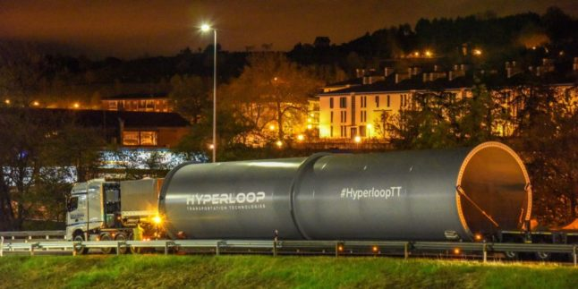 Hyperloop baut erste europäische Teststrecke in Frankreich