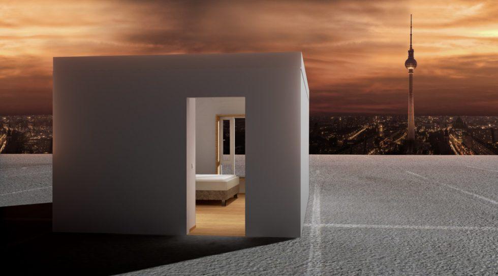 Zimmer mit Aussicht: Hotelzimmer auf einem Parkdeck in Berlin.