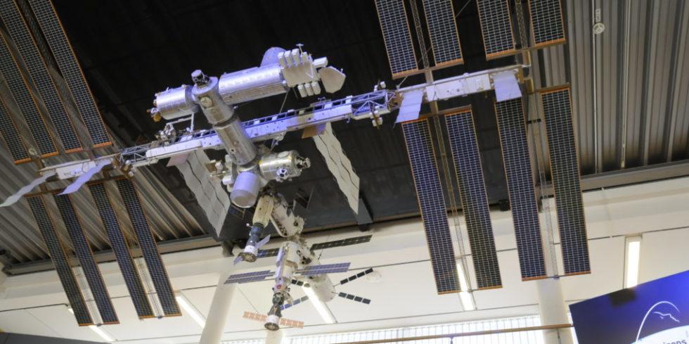 Modell der ISS im Astronautenzentrum in Köln.