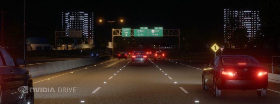 Highway im Dunkeln
