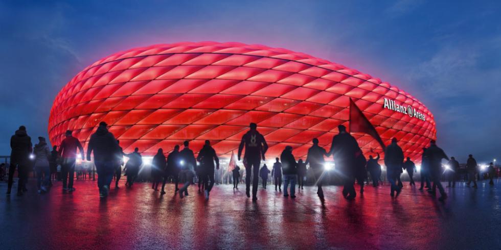 Im Stadion des FC Bayern München bekommt der Rasen zu wenig Licht. Der Club und Siemens wollen den Zustand des Rasens mit Sensoren überprüfen und über das IoT-Betriebssystem Siemens MindSphere steuern.