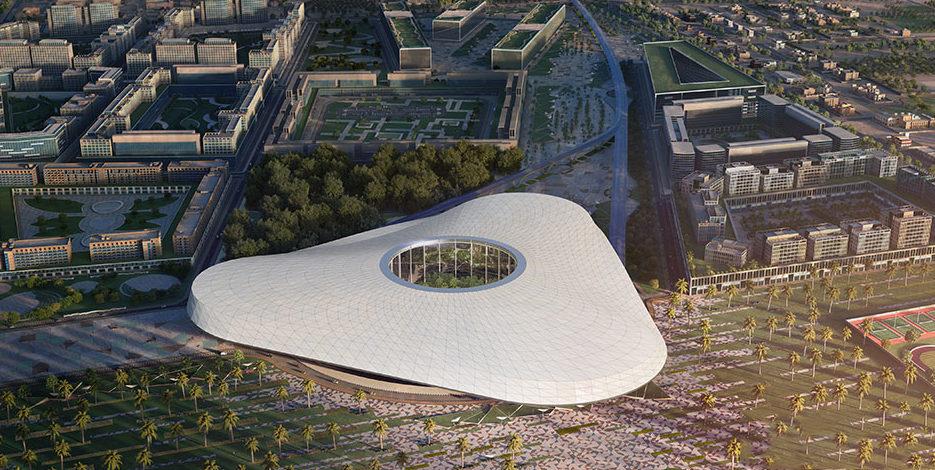 Entwurf für eine Bahnstation des Hyperloops.