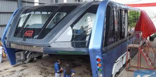 Der rollende Tunnelbus war eine Betrugsmaschine
