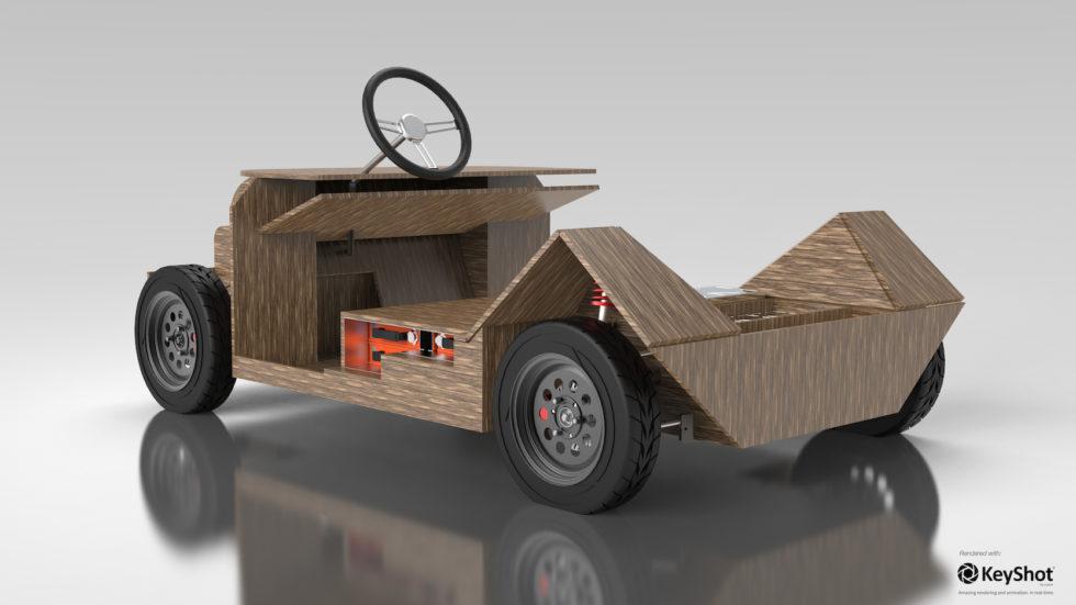 Komplett recycelbar: Das Ökoauto aus Flachs und Zucker