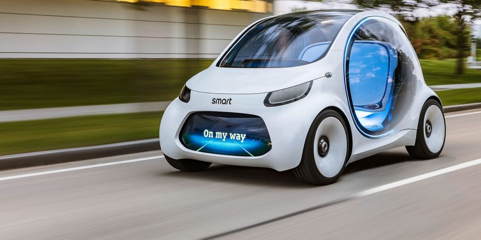 So stellt sich Daimler die Zukunft des Smart als Elektroauto vor. Die China-Variante von Polymaker sieht dem Smart schon sehr ähnlich.