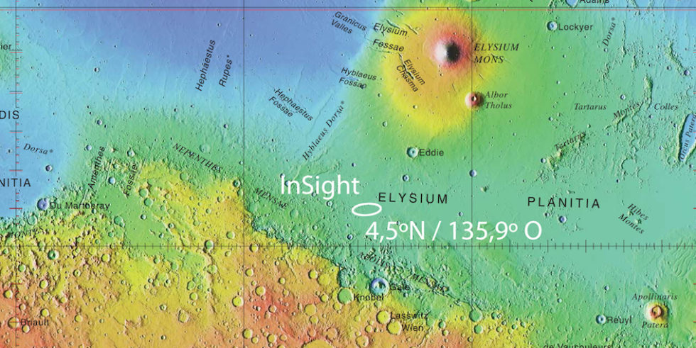 Karte vom Mars