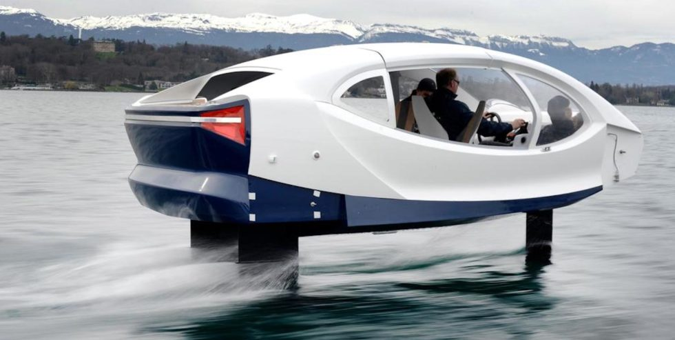 Die Wassertaxis werden bis zu 50 km/h schnell. Eine Akkuladung reicht für zwei Stunden.