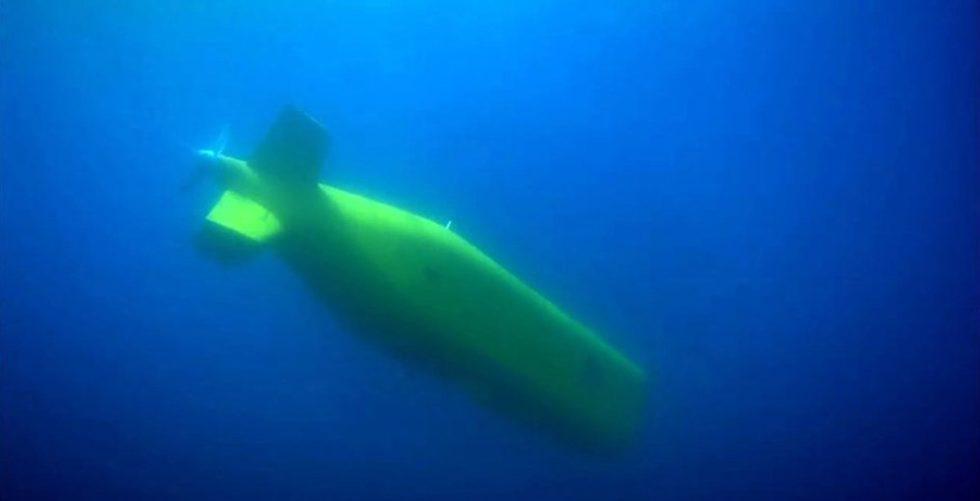 Das LDUUV-Mutterschiff unter Wasser.