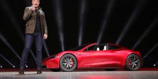 Teslas Roadster bekommt einen Raketenantrieb