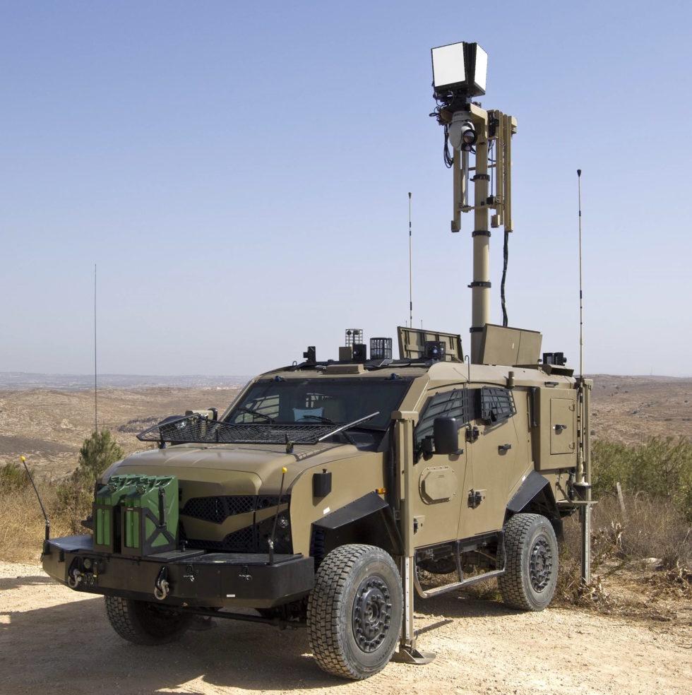 Auch der Luftraum über der Grenze kann vom Boden aus mobil überwacht werden.