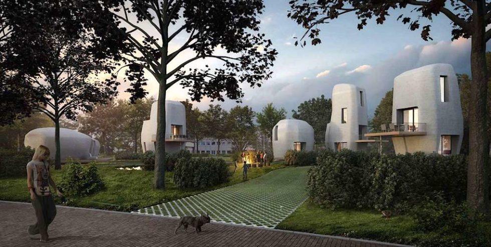 """Projekt Milestone: Die Form der 3D-Häuser soll an die """"Hinkelsteine"""", also an die Menhire erinnern, die Obelix auf dem Rücken trägt."""