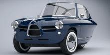 Für Nostalgiker: Elegantes Elektroauto auf drei Rädern im Retro-Look