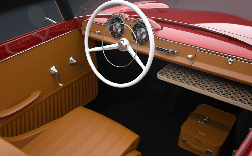 Cockpit in rot.