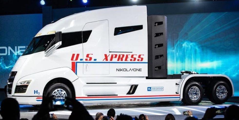 Nikola Motor will 2021 diesen schweren Sattelschlepper auf den Markt bringen. Die Antriebstechnik liefert Bosch.