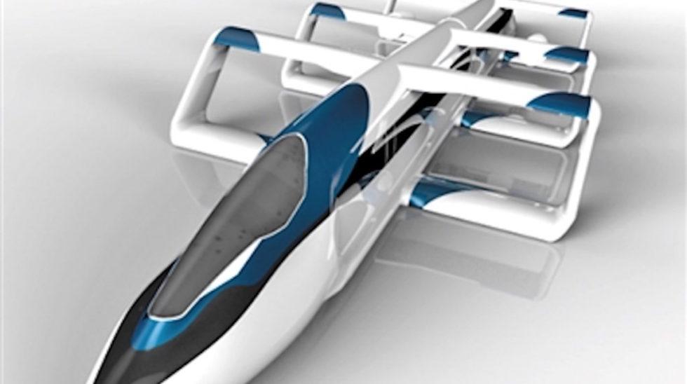 Modell des Hochgeschwindigkeitszuges Aerotrain, den Ingenieure aus China und Japan entwickelt haben. Er soll 2025 auf die Schiene gehen.
