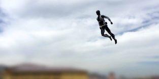 In der Luft machen die Roboter schon eine richtig gute Figur.