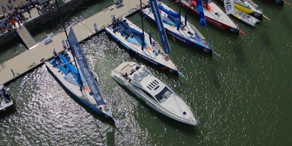Autonomes Andocken zwischen zwei Yachten: Im Hafen von Göteborg demonstrierte Volvo das Einparksystem.