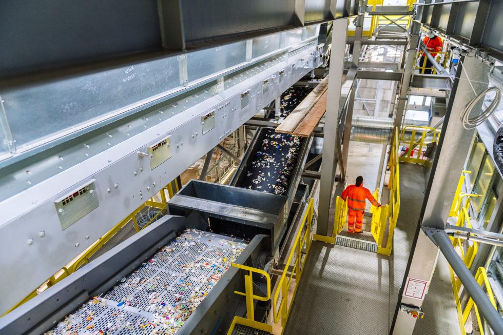 Die neue Sortieranlage Meilo soll bis zu 53% Recyclingquote schaffen. Bild: Lobbe (7), Vogt (2)