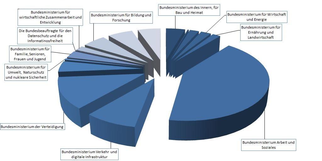 Die Ausgaben 2019, wie sie der Haushaltsentwurf der Bundesregierung vorsieht.