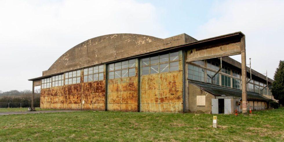 Der Hangar vor dem Umbau