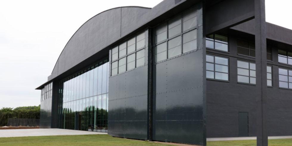Der Hangar nach dem Umbau