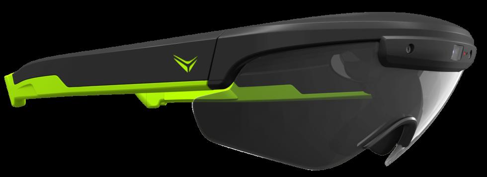 Ein Raptor-Modell in schwarz-grün