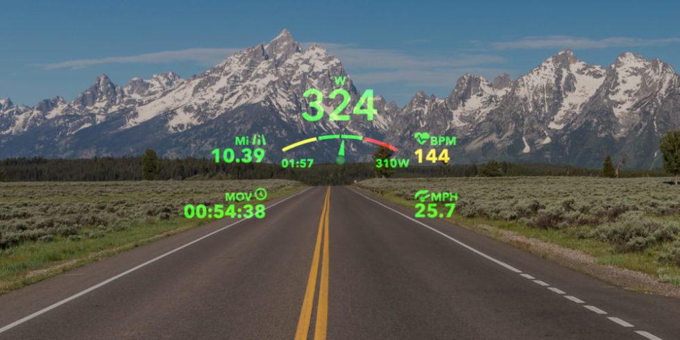 Geschwindigkeit im Head-up-Display der Brille