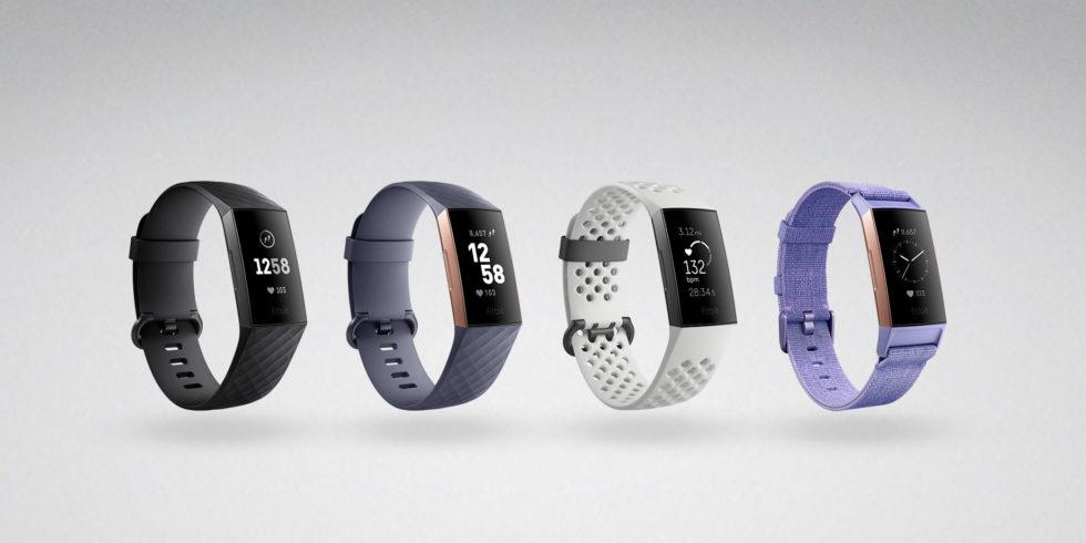 4 Fitbit Charge 3-Uhren als Produktbild