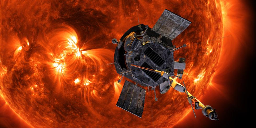 Die Nasa-Sonnensonde Parker Solar Probe soll sich bis auf 6,2 Millionen Kilometer der Sonne nähern. Dabei muss sie Temperaturen von mehr als 1370 Grad Celsius aushalten.