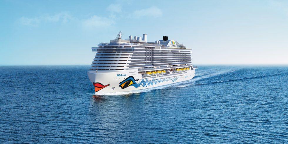 Die Aida Nova auf See.