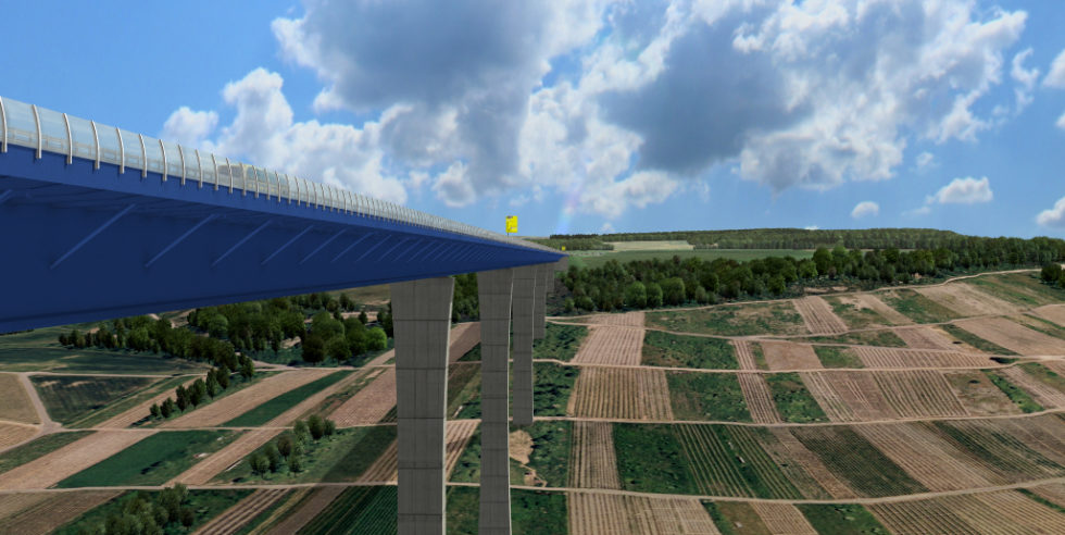 Bau Fahrbahn Hochmoselbrücke