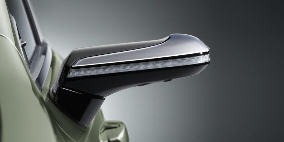 Der digitale Außenspiegel Rückseite mit Lichtleiste