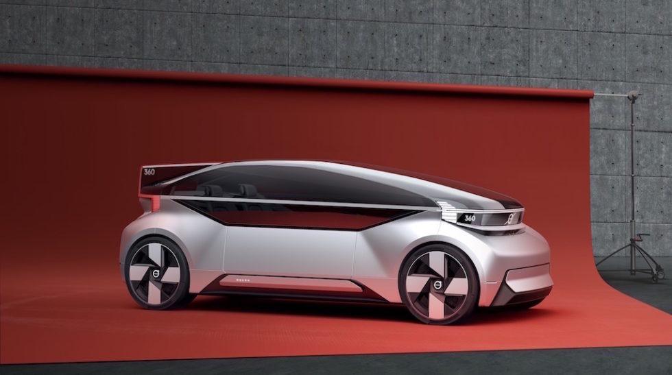 Der Volvo der Zukunft: Ohne Lenkrad und Fahrersitz kommt das Konzeptauto 360C aus.