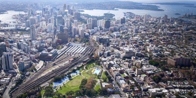 Sydney Bahnhof von oben