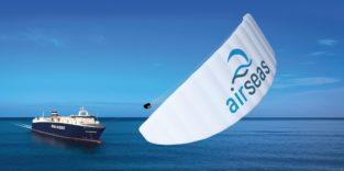 Lenkdrachen treiben große Airbus-Schiffe an