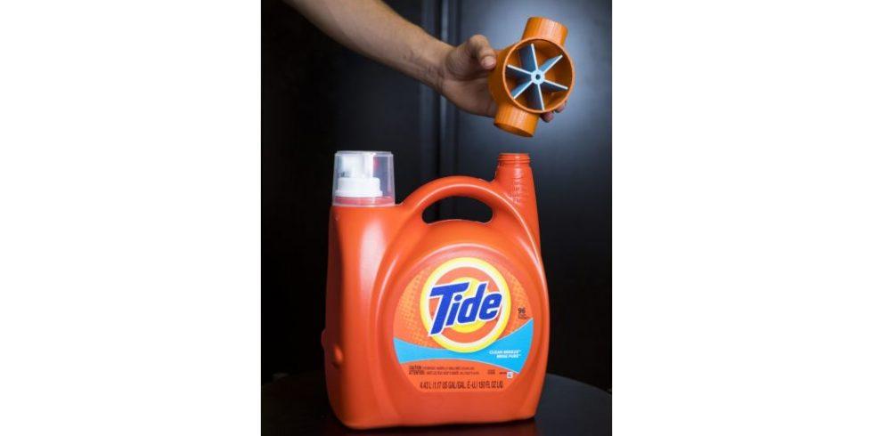 Waschmittelflasche mit Antenne aus dem 3D-Drucker