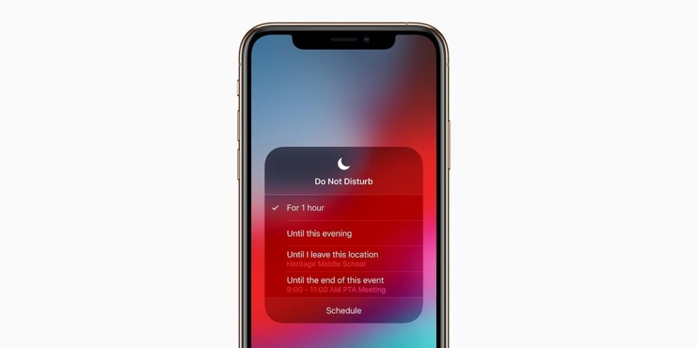 iPhone Xs mit Do Not Disturb-Screen