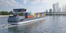 Neue Elektro-Binnenschiffe beliefern Rotterdam