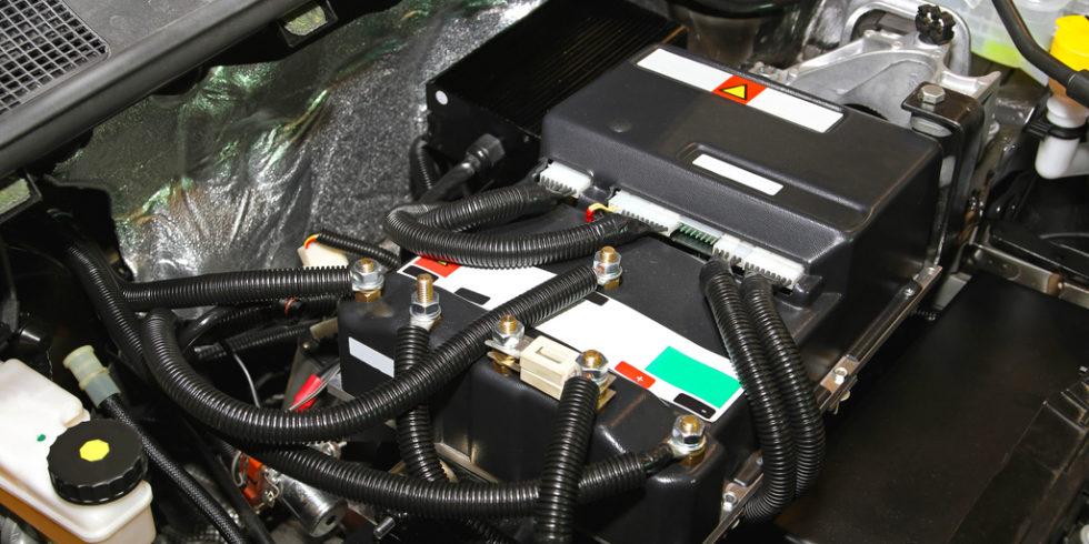 Elektromotor eines Elektroautos