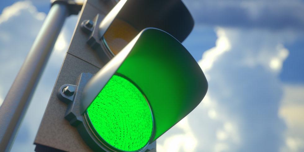 Ampel auf grün