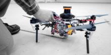 Drohne mit Lasermessverfahren an Bord