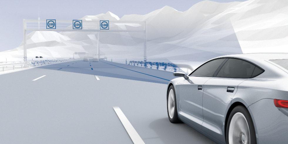 Illustration des selbstfahrenden Autos