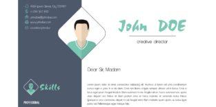 Englisches Anschreiben von John Doe, der englischen Variante von Max Mustermann