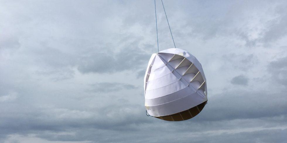 Prototyp der O-Wind-Turbine