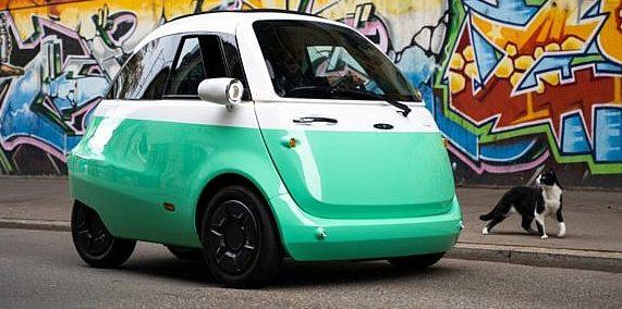 """Foto des Elektroautos """"Microlino"""""""