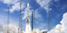 Künstlerische Darstellung der Ariane 6 Trägerrakete