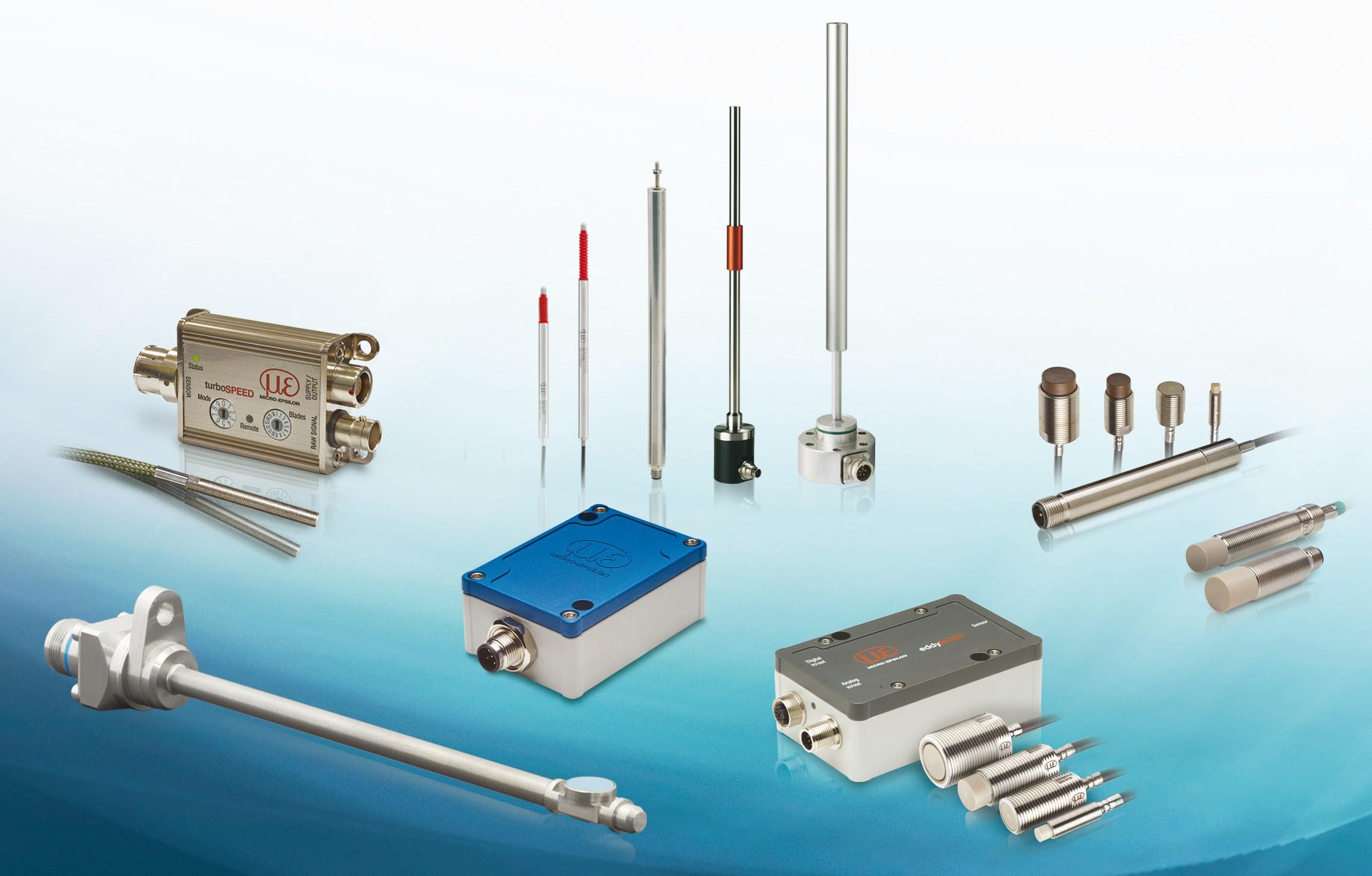 Bild 8: Micro-Epsilon bietet ein breites Spektrum an induktiven Sensoren zur Weg-, Abstands- und Positionsmessung. Bild: Micro-Epsilon