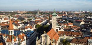 Blick über die Dächer von München