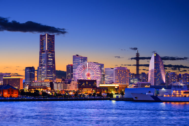 Yokohama japanisches Stadtbild