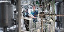 Versuchsanlage für Flüssigmetalle am KIT. Im Projekt NADINE soll ihr Einsatz in thermischen Energiespeichern erforscht werden.